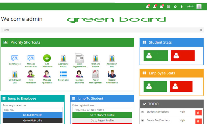 Greenboard the best school management software trivandrum
